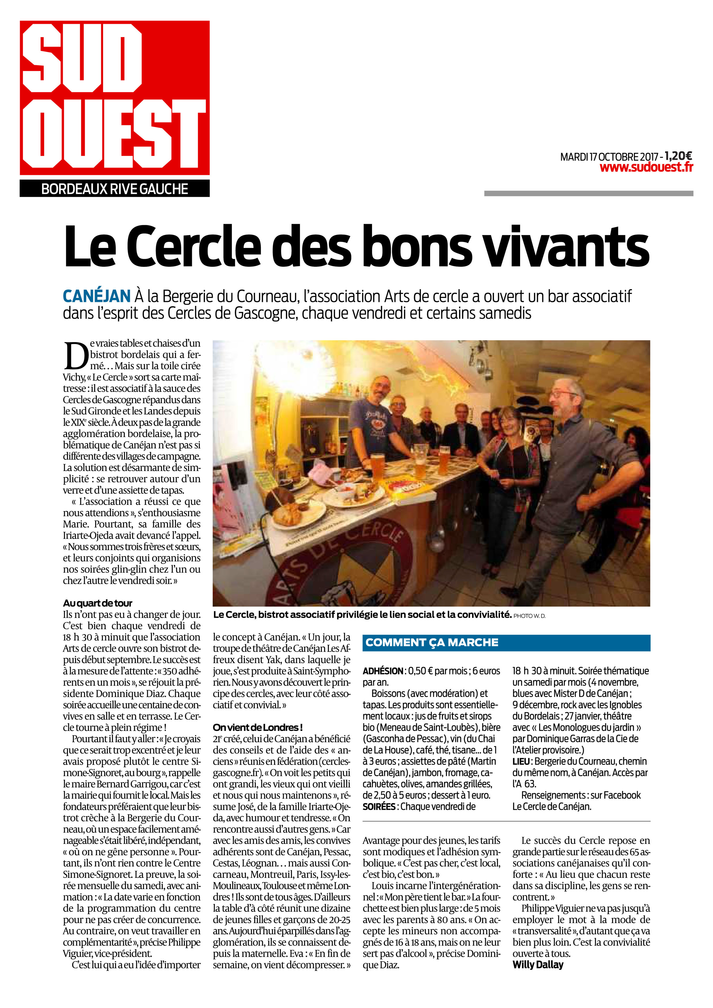 article sud-ouest canéjan